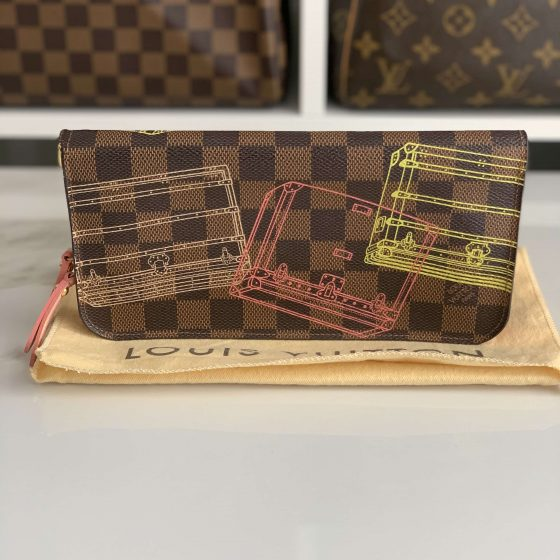 Louis Vuitton Damier Ebene Trunk Illustration Insolite Wallet