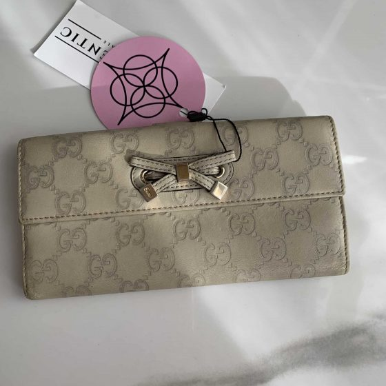 Gucci Guccisima Ivory Leather Wallet