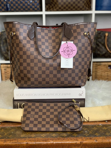 Her Authentic Louis Vuitton Neverfull