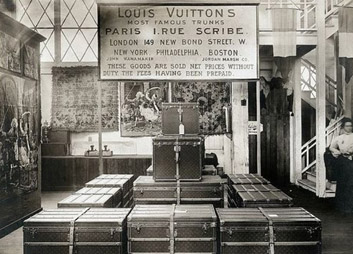 First Louis Vuitton Store on Champs Elysees in 1913