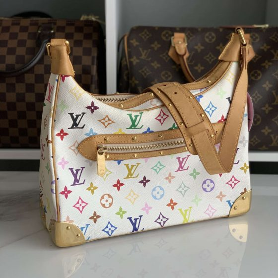 Louis Vuitton Multicolor Boulogne White