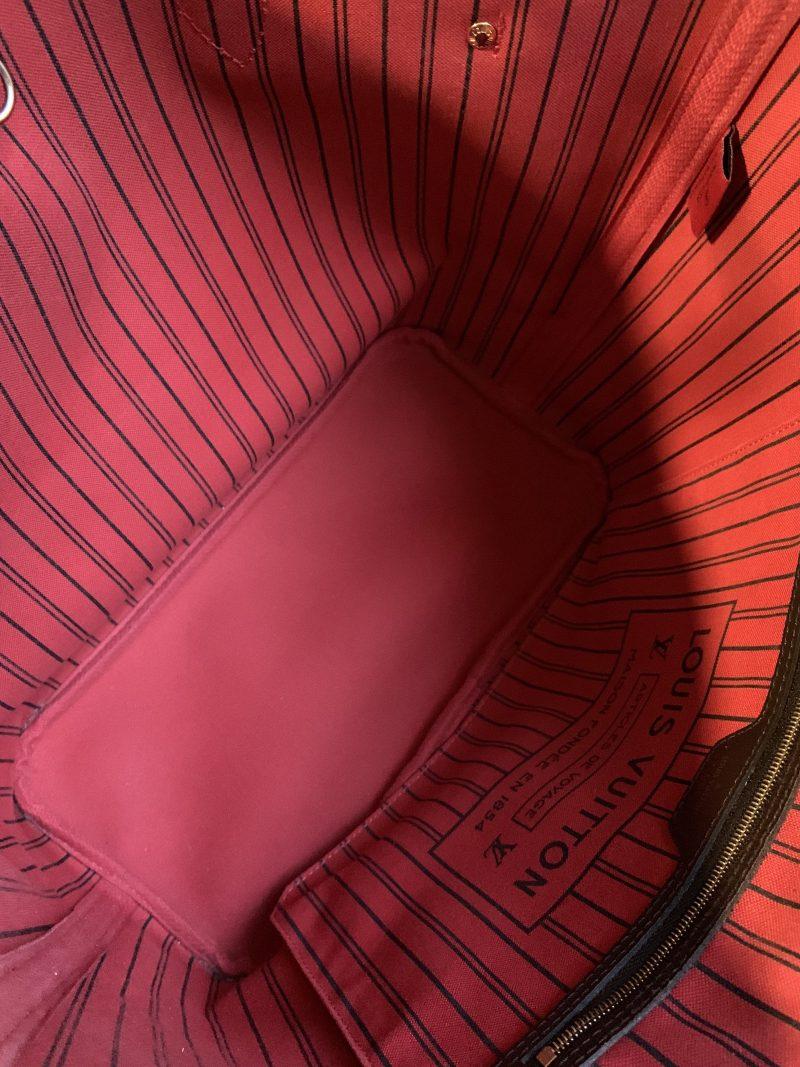 Her Authentic Louis Vuitton Neverfull Interior Designer Handbag