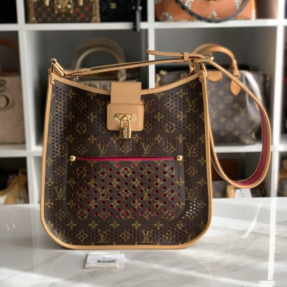 Louis Vuitton Monogram Perforated Musette Fuchsia
