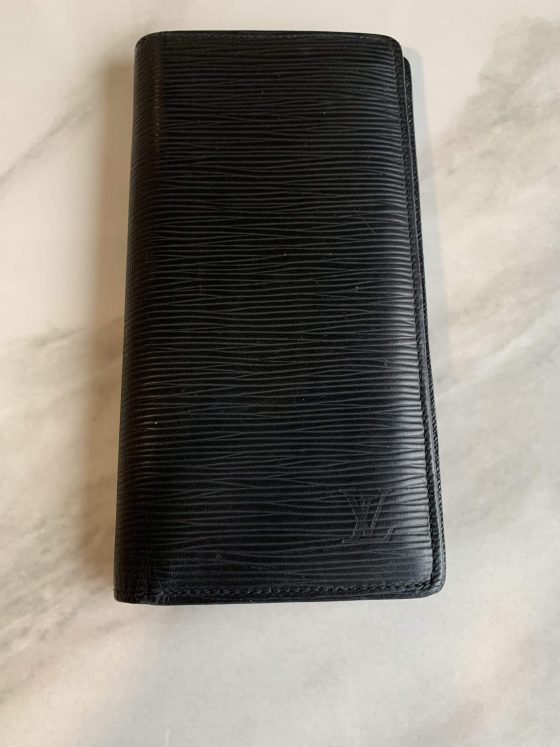 Louis Vuitton Epi Brazza Wallet Black