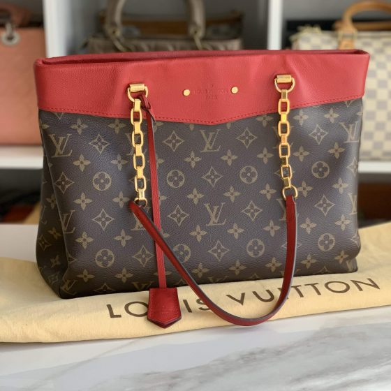 Louis Vuitton Monogram Pallas Shopper Cerise
