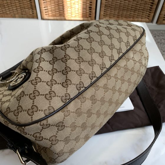 Gucci Sukey Crossbody Messenger Bag GG Canvas Medium
