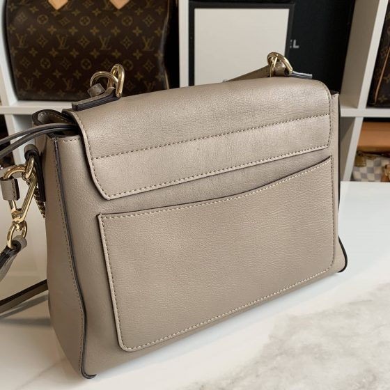 Chloe Calfskin Small Faye Day Shoulder Bag Motty Grey
