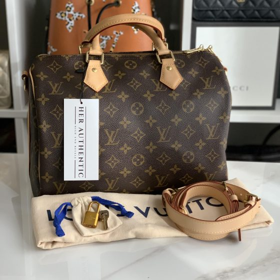 Louis Vuitton Monogram Speedy 30 Bandouliere NM