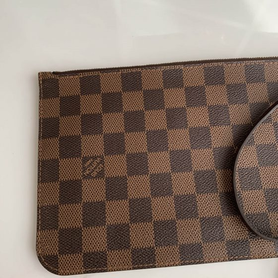 Louis Vuitton Damier Ebene Neverfull Pouch MM/GM