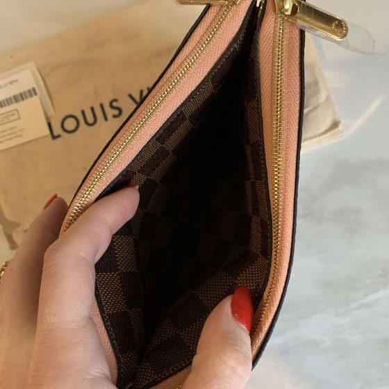 Louis Vuitton Damier Ebene Double Zip Pochette