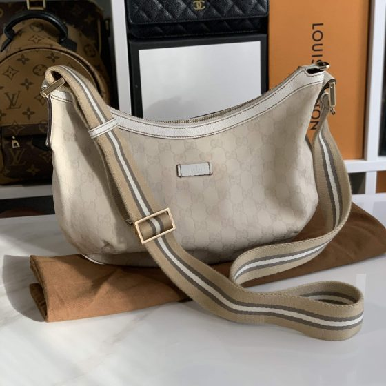 Gucci GG Canvas Web Crossbody Bag