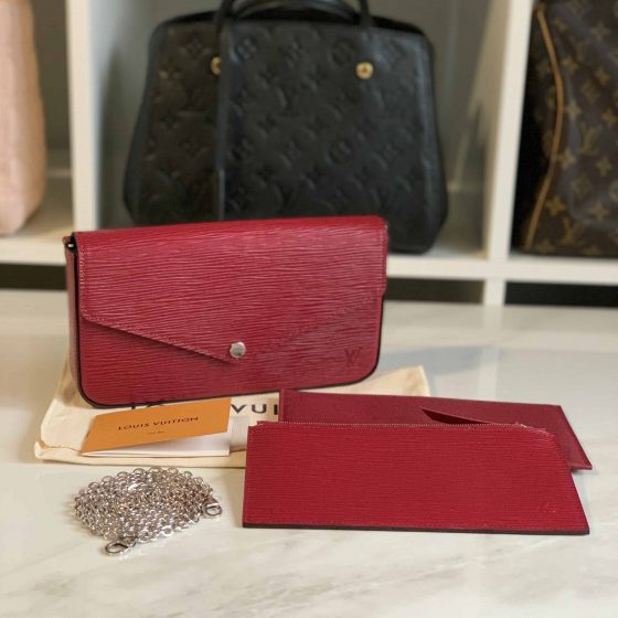Louis Vuitton Epi Pochette Felicie Cherry Berry