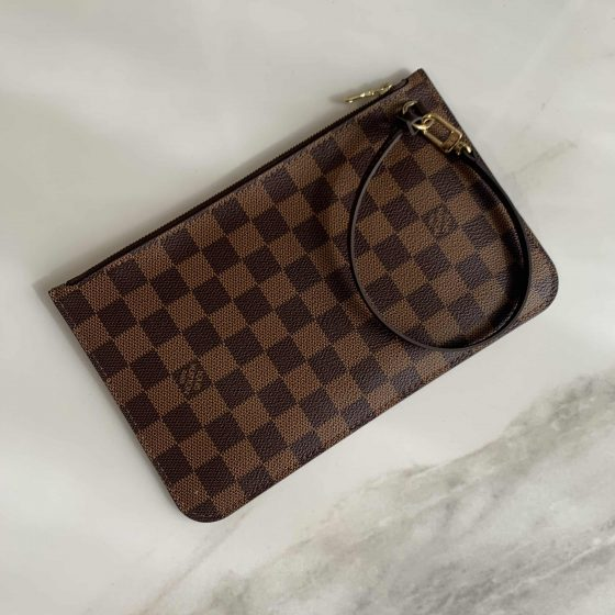 Louis Vuitton Damier Ebene Neverfull Pouch MM/GM