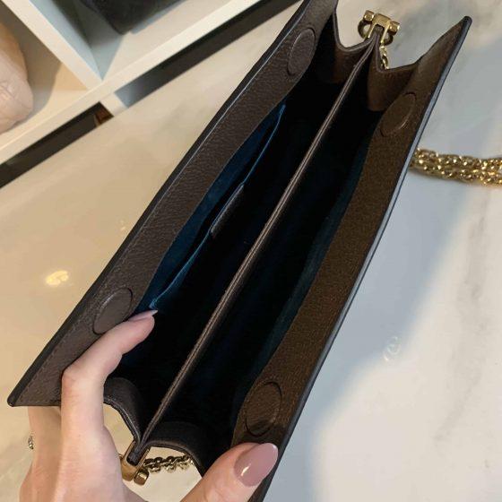 Gucci GG Supreme Monogram Small Ophidia Shoulder Bag Brown