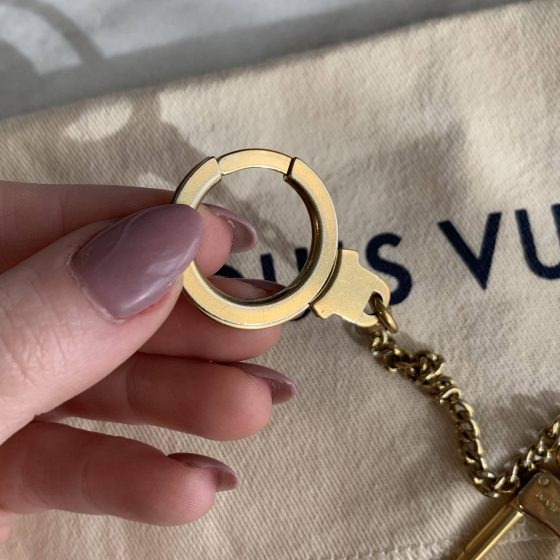 Louis Vuitton Goldtone Brass Bag Extender and Key Chain