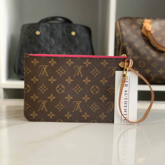 Louis Vuitton Monogram Neverfull MM Pochette Pivoine