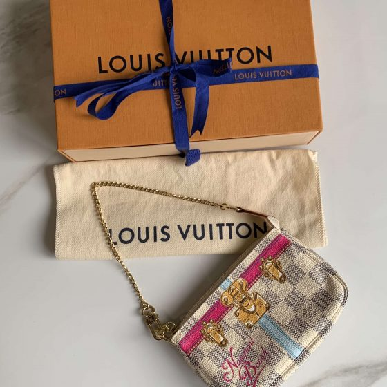 Louis Vuitton Damier Azur Summer Trunks Newport Beach Mini Pochette Accessories