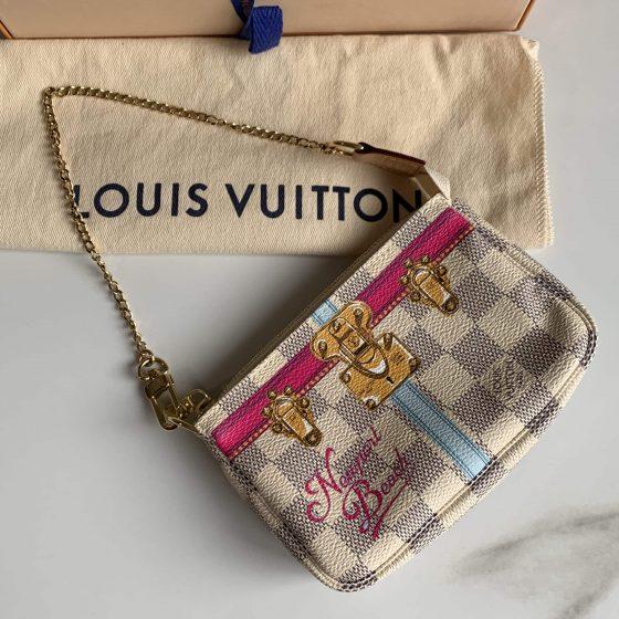 Louis Vuitton Damier Azur Summer Trunks Newport Beach Mini Pochette Accessories