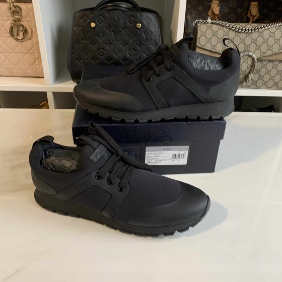 Prada Neoprene Sneakers Black & White Size 40