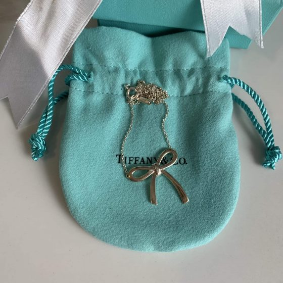 Tiffany & Co Bow Pendant Sterling Silver