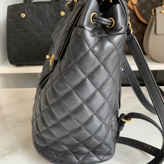 Chanel Lambskin Quilted Small Urban Spirit Backpack Black