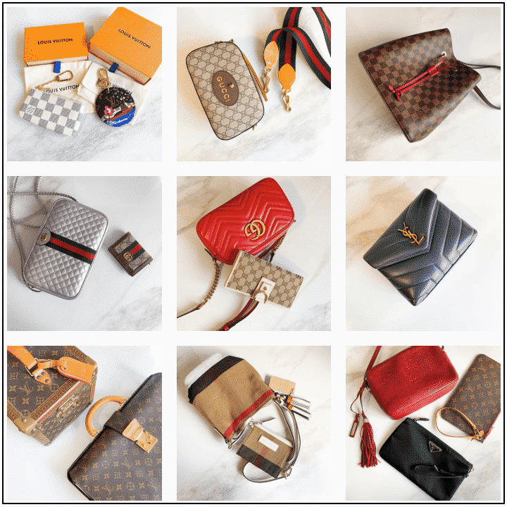 Her Authentic Cover Photos for March 2020 Louis Vuitton, Gucci and YSL Handbags and Wallets