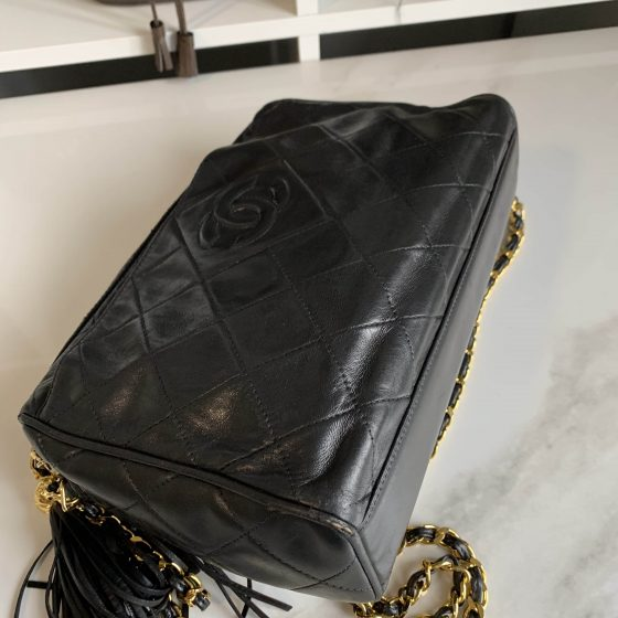 Chanel Lambskin Tassel Camera Case Black