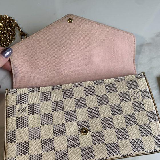 Louis Vuitton Damier Azur Felicie Rose Ballerine