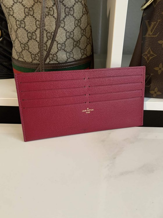 Louis Vuitton Calfskin Pochette Felicie Card Holder Insert Fuchsia