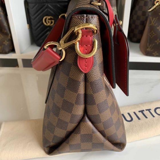 Louis Vuitton Damier Ebene Beaubourg MM Scarlet