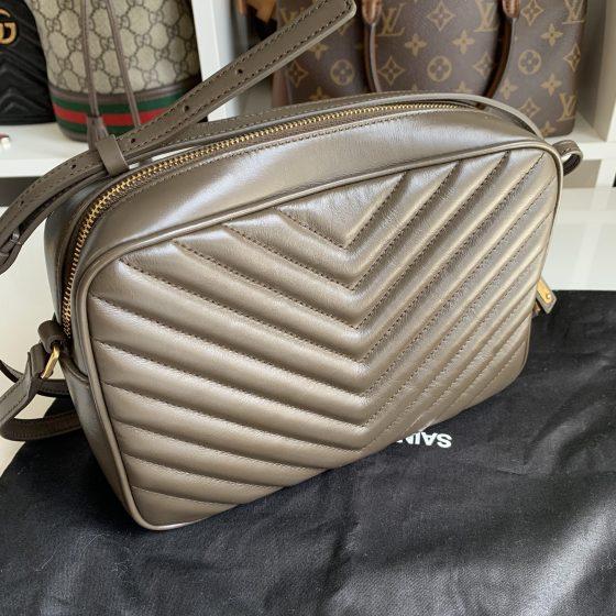 Saint Laurent Calfskin Matelasse Lou Camera Bag Brown