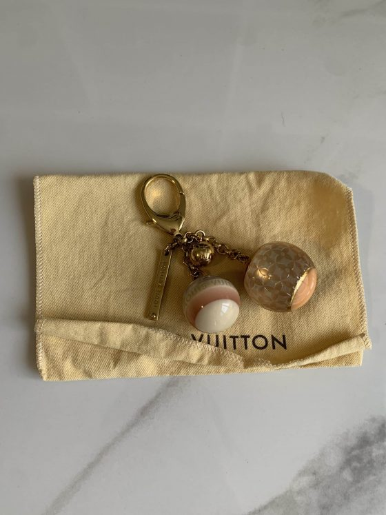 Louis Vuitton Monogram Ball Charm Key Chain Blush