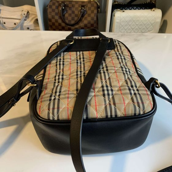 Burberry Smooth Calfskin Knight Check 1983 Link Backpack Black