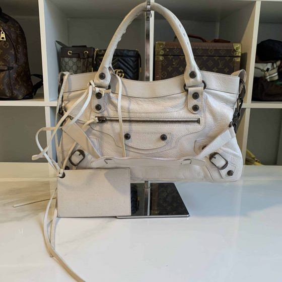 Balenciaga Agneau Giant 12 First City White