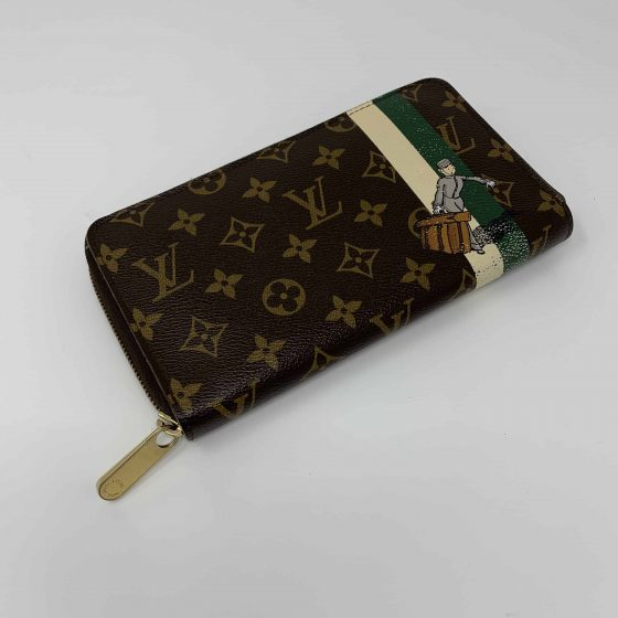 Louis Vuitton Monogram Groom Zippy Organizer Wallet Green