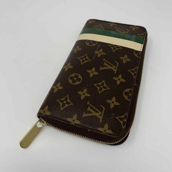 Louis Vuitton Monogram Groom Zippy Organizer Wallet Green