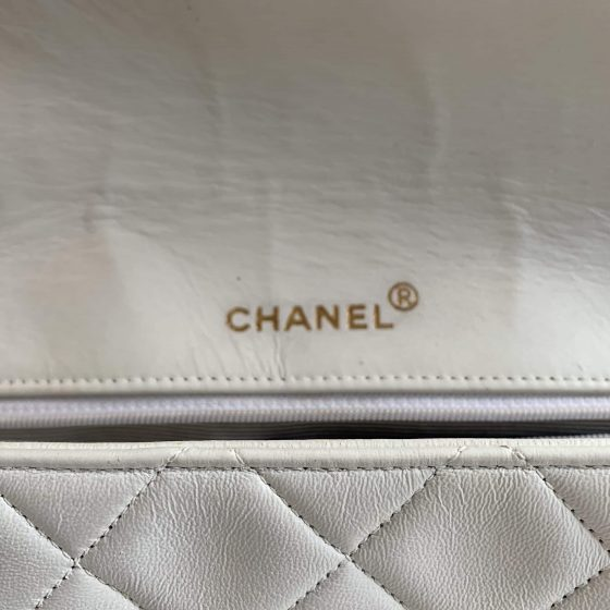Chanel Vintage Diana Flap Bag Quilted Lambskin Medium