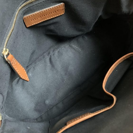 Burberry Bridle House Check Small Orchard Bowling Bag