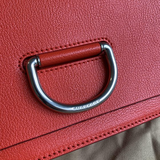 Burberry Goat Leather D Ring Small Chain Strap Bright Red