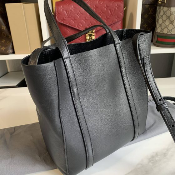 Balenciaga Everyday XXS Tote Bag Black Smooth Calfskin