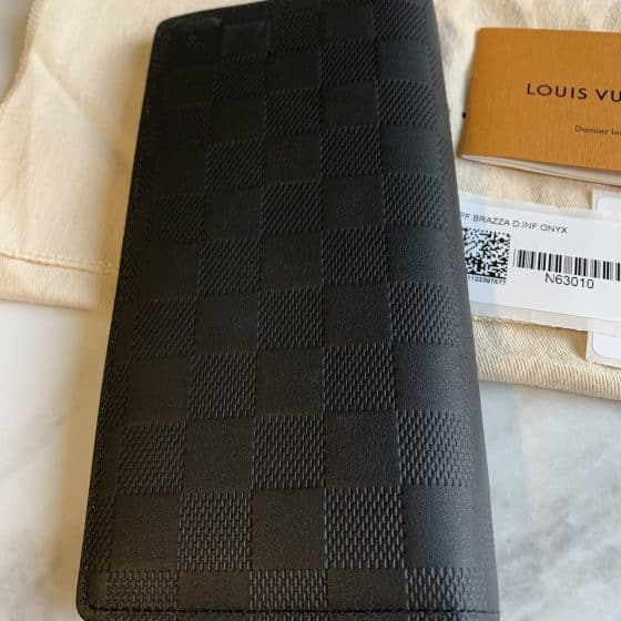 Louis Vuitton Damier Infini Brazza Wallet Onyx