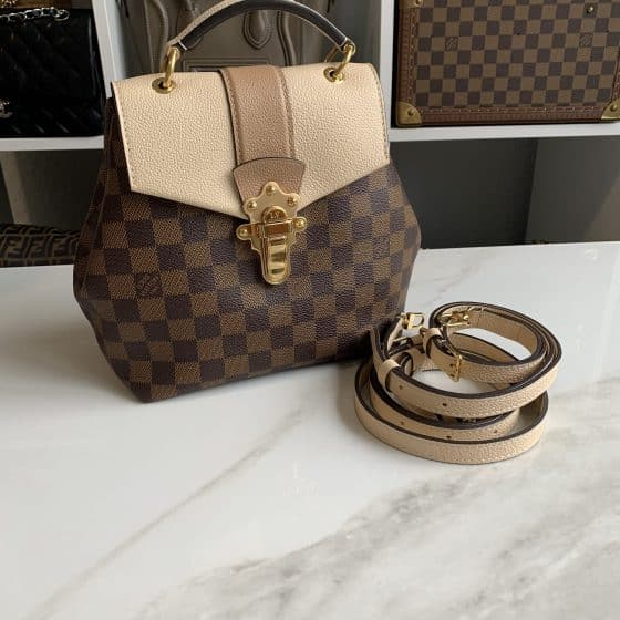 Louis Vuitton Damier Ebene Clapton Backpack Creme