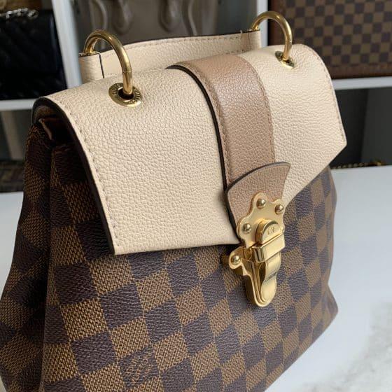 Louis Vuitton Damier Ebene Clapton Backpack Creme