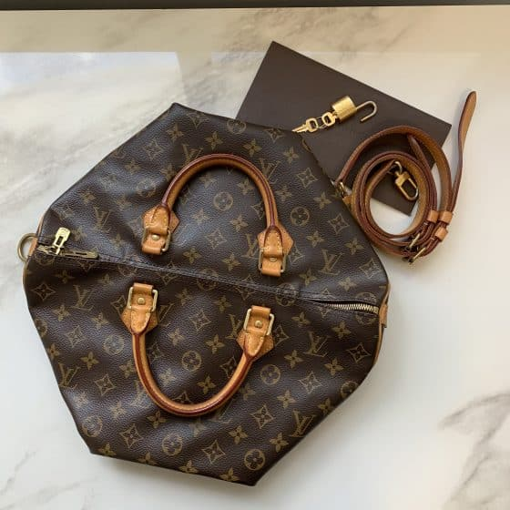 Louis Vuitton Classic Monogram Speedy 35 Bandouliere NM