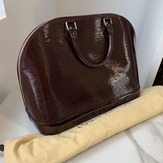 Louis Vuitton Electric Epi Alma GM Prune