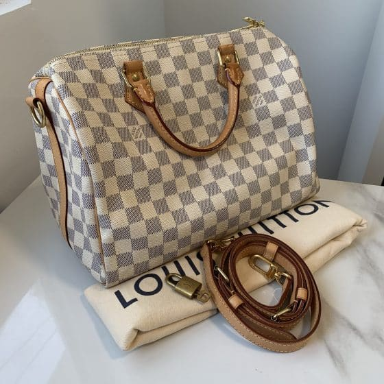 Louis Vuitton Damier Azur Speedy 30 Bandouliere NM