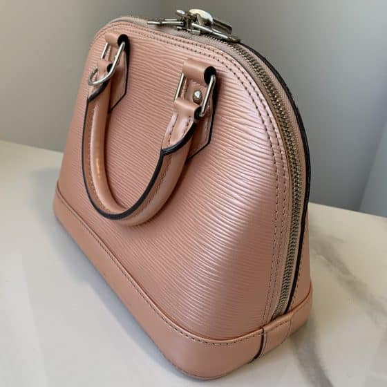 Louis Vuitton Epi Alma BB Rose Nacre