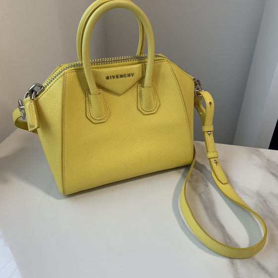 Givenchy Sugar Goatskin Mini Antigona Yellow