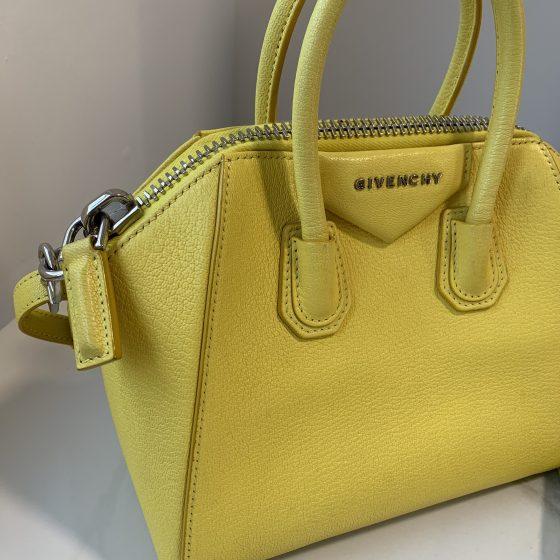 Givenchy Sugar Goatskin Mini Antigona Yellow
