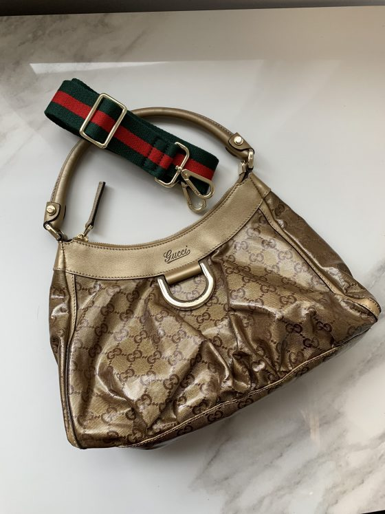 Gucci GG Canvas Small D-Ring Hobo Bag